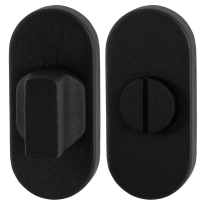 Toiletgarnituur GPF8910.04 70x32mm stift 8mm zwart grote knop