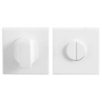 Toiletgarnituur GPF8910.42 50x50x8mm stift 8mm wit grote knop