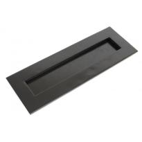 Wardlo briefplaat buitenmaat 319x110mm/ opening 257x45mm smeedijzer zwart