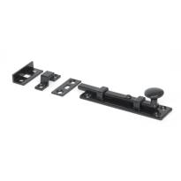 Wardlo deurschuif recht met knop 100x25mm smeedijzer zwart