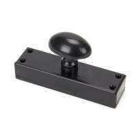 Wardlo espagnolet ei-knop 130x35mm voor espagnolet smeedijzer zwart