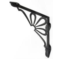 Wardlo plankdrager 230x237mm, smeedijzer zwart.