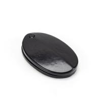 Wardlo sleutelrozet 51x31x2.5mm met verdek smeedijzer zwart