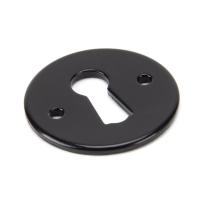 Wardlo sleutelrozet rond 45x3mm smeedijzer zwart
