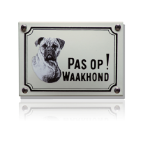 WHK-01 emaille waakhondbord 'Boxer'