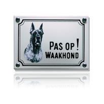WHK-03 emaille waakhondbord 'Deense dog'