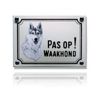 WHK-07 emaille waakhondbord 'Husky'