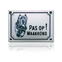 WHK-08 emaille waakhondbord 'Mastif'