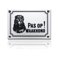 WHK-09 emaille waakhondbord 'Rottweiler'