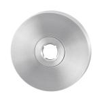 Rozet GPF1100.00L/R 50x8mm RVS geborsteld links-/rechtsdraaiend