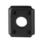 Rozet GPF6100.02 59x48x6mm smeedijzer zwart