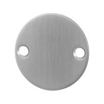 Blinde rozet GPF0900.06 50x2mm RVS geborsteld