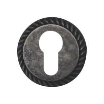 Cilinderrozet 1351/BY 51x10mm antiek chroom