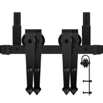 GPF0554.61 dubbel schuifdeursysteem Nuoli zwart