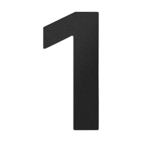 Huisnummer 1 zwart, 150 mm