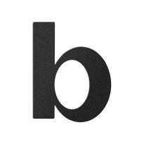 Huisnummer toevoeging letter 'B' zwart, 110 mm