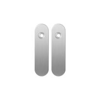 Kortschild GPF1100.10 blind RVS geborsteld