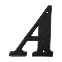 Landelijke huisnummer toevoeging letter 'A', smeedijzer zwart