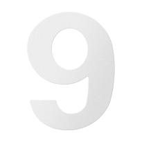 RVS huisnummer 9, wit