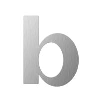 RVS huisnummer letter 'B' plat, 110 mm
