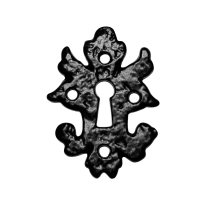 Sleutelrozet KP1064 82x60mm smeedijzer zwart