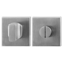 Toiletgarnituur GPF0911.02 50x50x8mm stift 5mm RVS geborsteld grote knop