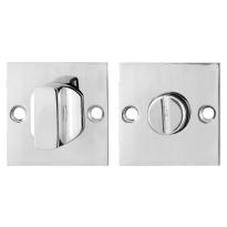 Toiletgarnituur GPF0911.48 50x50x2mm stift 5mm RVS gepolijst grote knop