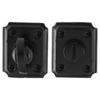 Toiletgarnituur GPF6910.02 59x48x6mm stift 8mm smeedijzer zwart