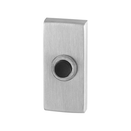 Beldrukker GPF9826.01 rechthoekig 70x32x10 mm RVS geborsteld