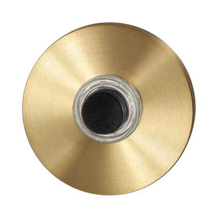 Beldrukker GPF9826.09P4 rond 50x8 mm PVD mat messing
