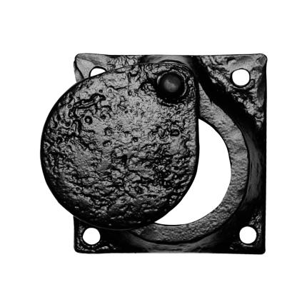 Cilinderrozet KP1498 58x58mm smeedijzer zwart