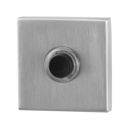 Deurbelknop GPF9826.02 vierkant 50x50x8 mm RVS geborsteld