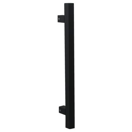 Deurgreep T-model GPF10 22x400mm hoogte 55mm zwart