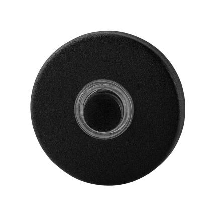 Zwarte deurbel GPF8826.09 rond 50x8 mm