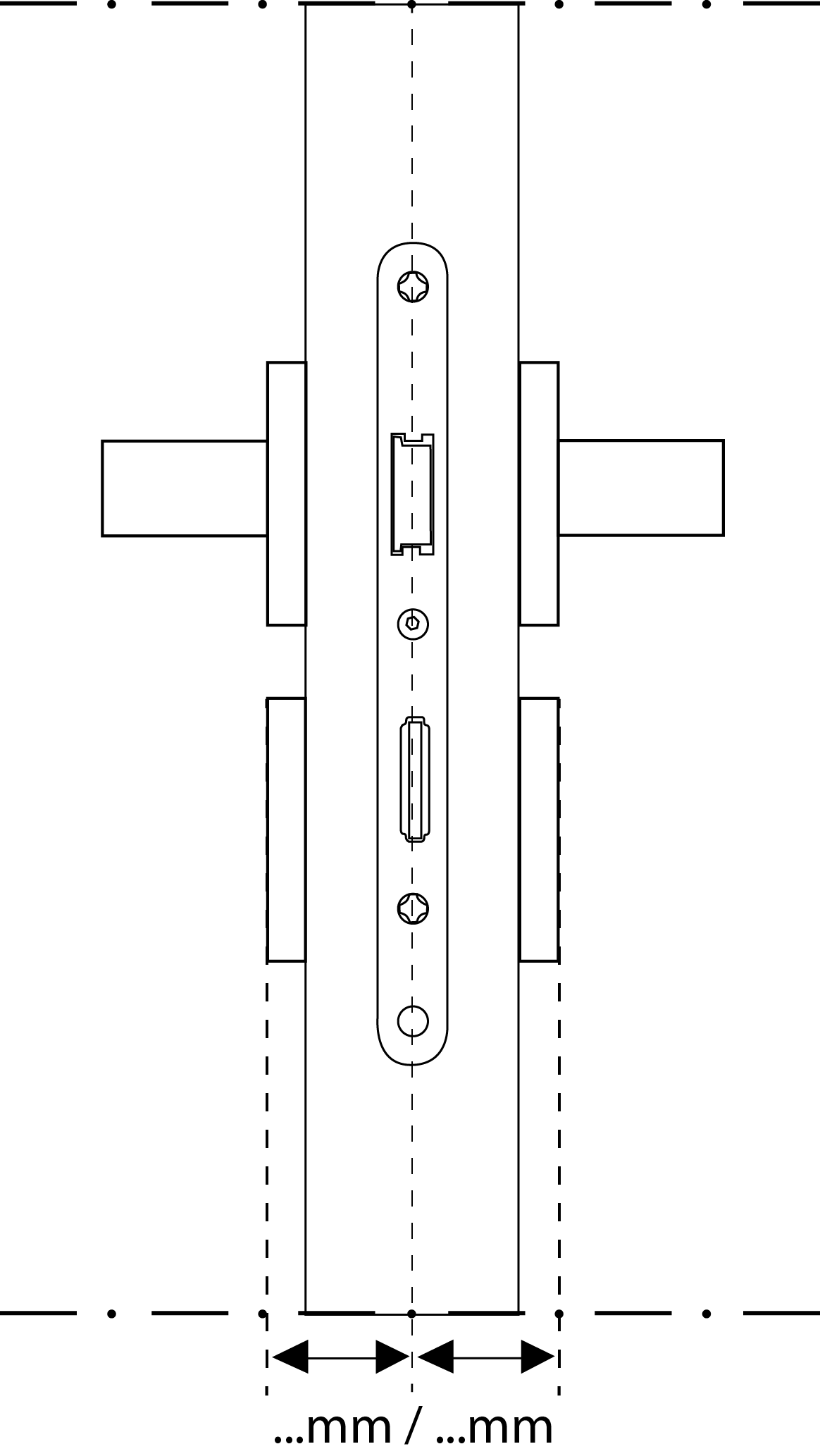 Cilinder tekening kopse kant