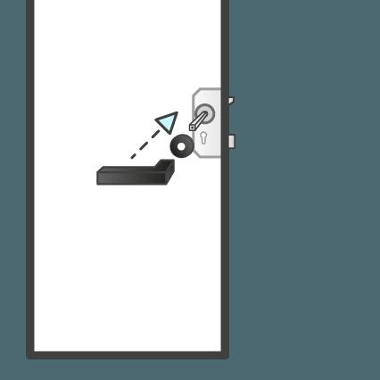 Bevestigen deurkruk