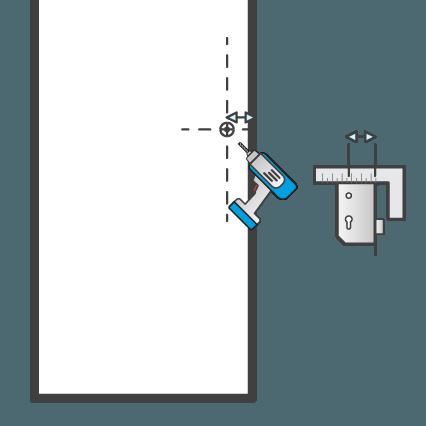 Boren voor een deurkruk