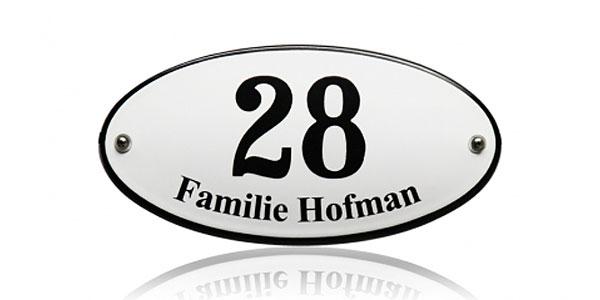 Huisnummers met naam