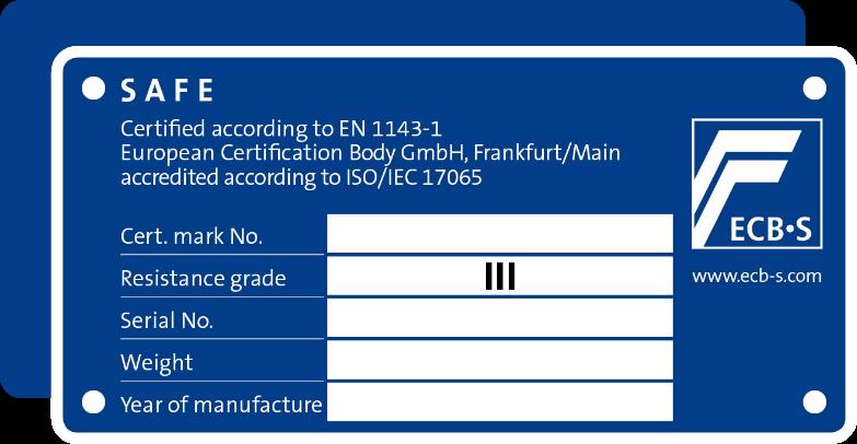 Koop een kluis met certificaat