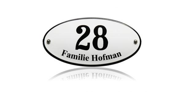 TopEmaille huisnummers met naam